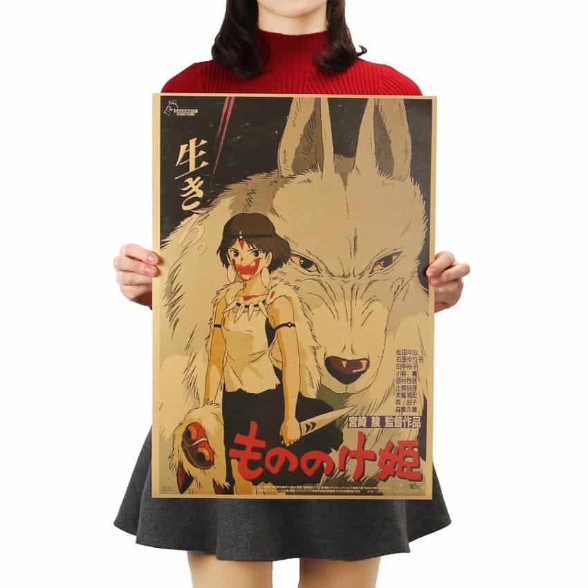 Princess Mononoke Kraft Paper Poster
